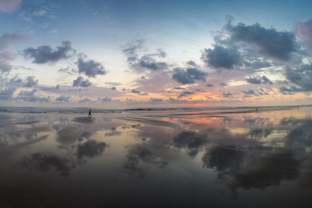 Sunset on the beach of Matapalo in Costa Rica